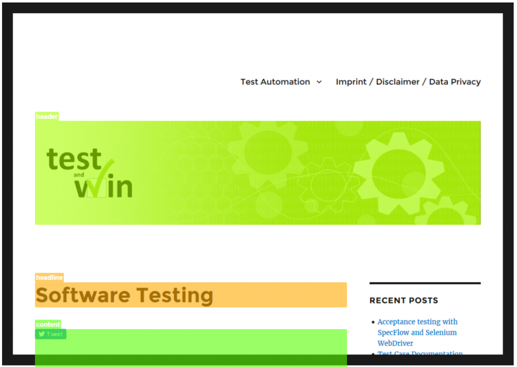 Automated responsive website testing - Galen Heat Map