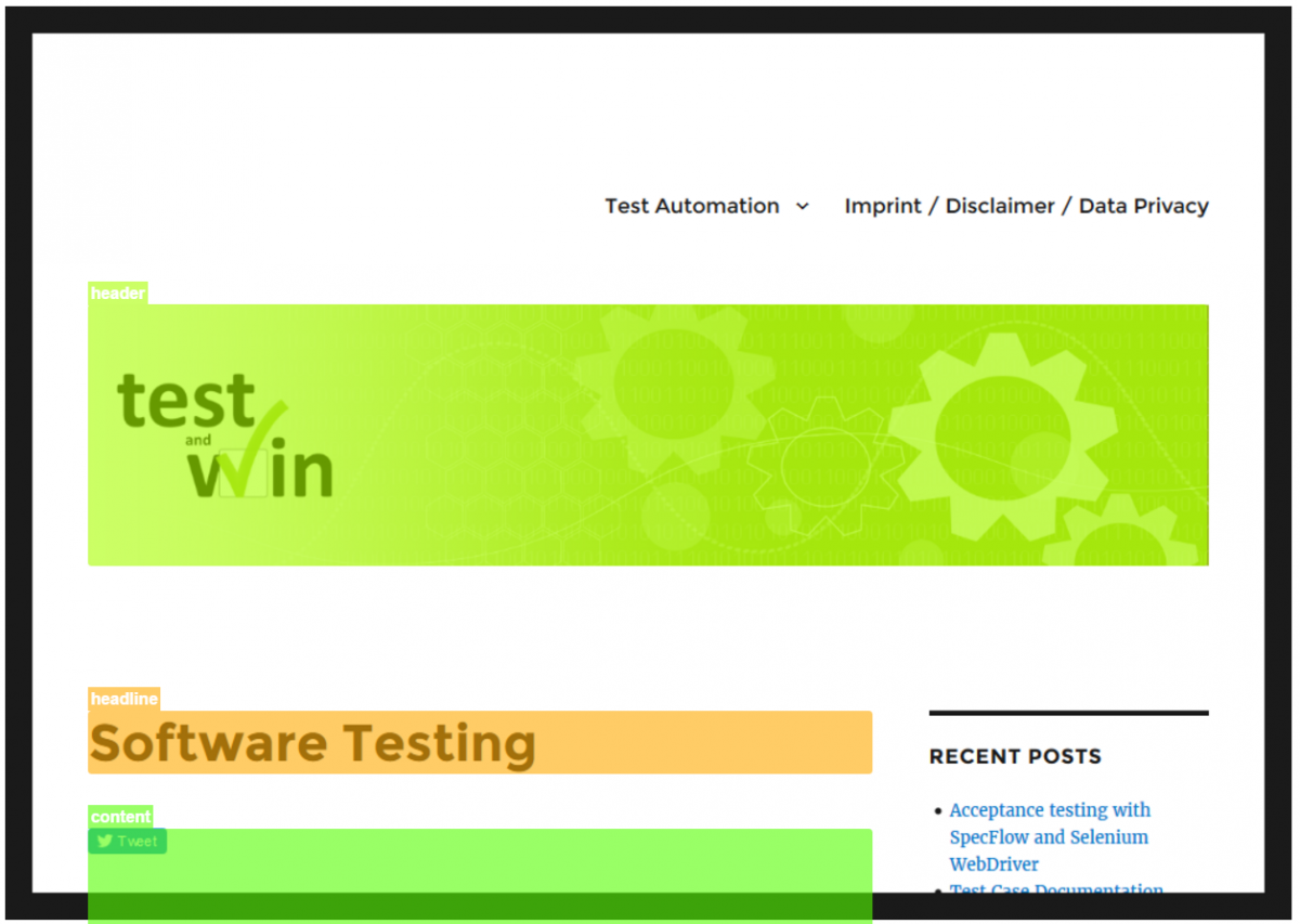 Automated responsive website testing